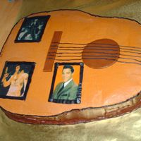 Elvis This is another view of the guitar dedicated to Elvis.