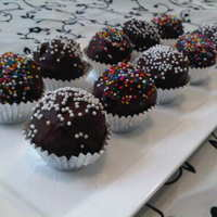 Chocolate Cake Balls :d First time making these, simple and delicious. :) TFL