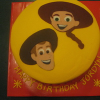 Toy Story Woody and Jessy cake for a 4 year old girl. Characters cut out of fondant, but everything else is buttercream.