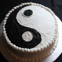Yin And Yang Pistachio cake for my sister's birthday