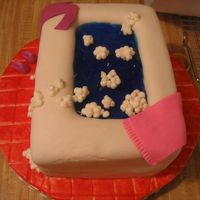 Retirement Cake For My Mother My first attempt at the bathtub cake