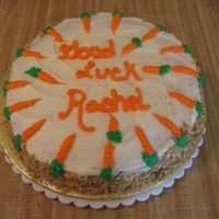 Going Away For who coworker who was leaving for another job. Carrot cake w/ cream cheese frosting