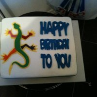 Lizard Tattoo Birthday Cake! 40th birthday cake with lady's lizard tattoo on it!