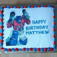 Transformer Optimus Prime Icing image on 12x15.