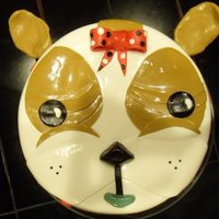 Bulldog Face Cake