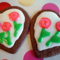 "Rose Cookies ""mod rose"" chocolate sugar cookies inspired by the ones made on the decorated cookie blog."