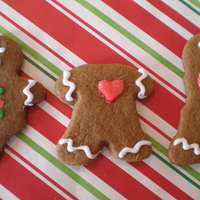 Gingerbread People With Scarves