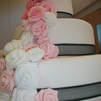 Dummy Cake For Class With Fondant Roses