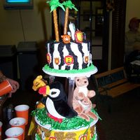 Zoo Safari Birthday I was so happy with the way this cake turned out. I was shooting for the Wilton Jungle Pals cake, but was totally intimidated by the...