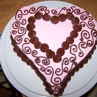 Sweetheart Cake This is the first cake I made in my new Wilton Sweetheart cake pan. I used cinnamon cake with pink buttercream icing and chocolate icing...