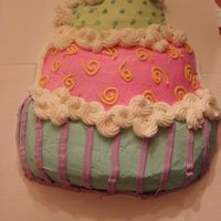 Topsy Turvey Cake This is a cake I made for my best friend's birthday, about the fourth cake I ever attempted . She loved it.