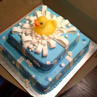 Duck Cake We made this for a baby shower.