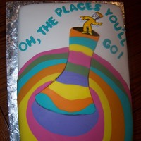 Oh, The Places You'll Go! By Dr. Suess  Made for a friends' graduation. She loved it. I would have liked to have more time to cover the seams. Oh well! I wish I new who to...