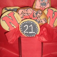 Wrestling Cookie Bouquet This was done for my boyfriends birthday. He is a wrestler at Newberry, S.C and wanted to do something special for his 21st birthday. No...