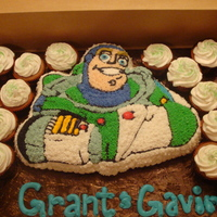 Buzz Lightyear Cake This was using the buzz lightyear pan, is all done in buttercream.