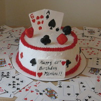 Playing Cards   White cake with BC. Cards made out of gumpaste. TFL