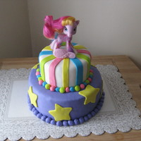 My Little Pony   Hot Cocoa flavored cake with marshmallow BC and MMF. TFL