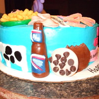 30Th Birthday Cake Everything my sister in law likes or reminds me of her. These are really fun cakes to make!