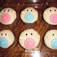Baby Cupcakes!  Baby cupcakes made for my son's teacher's baby shower. Chocolate, chocolate chip cupcakes with vanilla buttercream and...