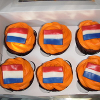 Holland World Cup 2010 Cupcakes!  Made these to celebrate the Netherlands in the World Cup final game. Unfortunately, they lost, but the cupcakes were delicious! :-) Dutch...