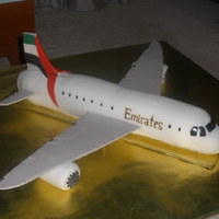 My Son's 6Th Birthday Cake   emirates airlines- wings made of gumpaste