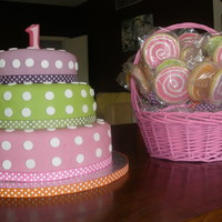 1St Birthday Cake And Basket Of Cookie Pops