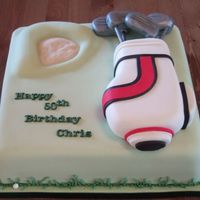 Golf Cake  I loved making this cake, it was my first attempt at golf clubs, was really pleased with the result but my favourite thing about this cake...