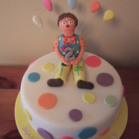 Mr Tumble Cake  I made this for my friends little girl's second birthday. The cake topper is Mr Tumble who is massive in the UK! This was my first...