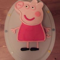 Peppa Pig  I made this cake for my daughters second birthday...she's made on Peppa Pig, or Pa Pig as she calls her! Not sure if you have Peppa...