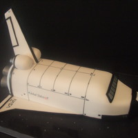 Space Shuttle Cake  I made this cake for my mother-in-laws boyfriend's birthday and it was inspire by a picture I saw on the web. This is one of my...