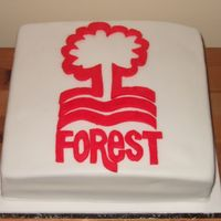 Nottingham Forest Football Cake   I made this cake for my brother-in-laws 40th birthday, he's an avid Nottingham Forest football fan...it's a UK football team!