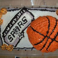 Spurs_Cake.jpg 3d Bball cake i did for a girls husband.