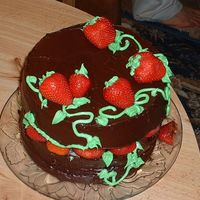 Fdaycake6.jpg Strawberries and chocolate. My husband's favorite.