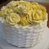 Yellow Buttercream Flowers Basket