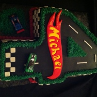 Hot Wheels 4 Cake