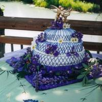 Purple And Gold This is actually the first wedding cake I did when I worked in Alaska. My sister Abby made the topper. Ukrainian Poppyseed cake with cream...