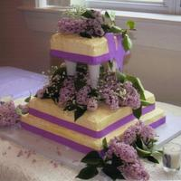 Purple Lilacs This is a 3 tiered cake I did for my cousin, it's a white cake with french buttercream frosting. Each slice was drizzled with a...