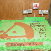 Fenway Park Cake Buttercream frosting
