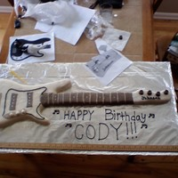 Bass Guitar Birthday Cake
