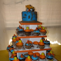 1St Birthday Construction Cupcakes