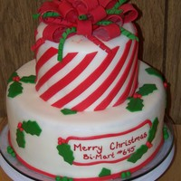 Merry Christmas! My first Christmas cake, for my company party.