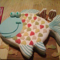 Fish Cake made this for my partners 40th, keen fisherman even tho he hardly ever catches anything....