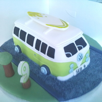 Vw Camper Van enjoyed making this, my friends son is camper van mad and loved this cake