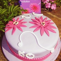 Purple Gerbera Cake Cake was designed to match the funky party invitation. I would have LOVED to use the Gerbera Cutters but shopped around on-line and could...