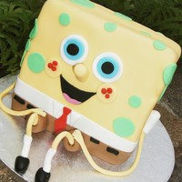 Spongebob Chocolate Raspberry cake with buttercream. I thought it was time to make a cake for my own children who are big fans of Spongebob. They&#...