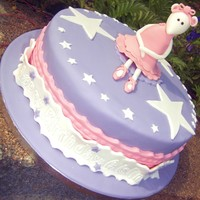 Angelina Ballerina Cake  Angelina cake for a 3 year old birthday girl - put 3 big stars on it for her too. Whenever I look at this Angelina photo she makes me smile...