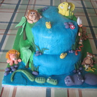 Inspired By Cake On Net Jungle cake for my grandsons 2nd birthday but could be adapted for anyone...Had to include the duoks as he crazzzzy about them :-)