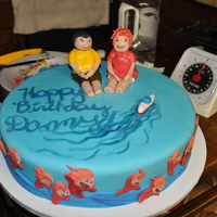 "Ponyo Cake!   Ponyo cake for a friends' boyfriends' birthday! ""happy birthday danny!"""
