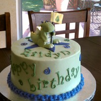 Dragon Cake The dragon on top was made to look like the birthday boy's favorite stuffed toy. Accents are gumpaste and royal icing. I ran out of my...