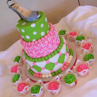 Shoe Mitzvah  This was done to the exact specifications of the young girl...she wanted me to exactly replicate a cake she found online, no changes (not...